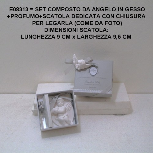 SET CON ANGELO IN GESSO E PROFUMO